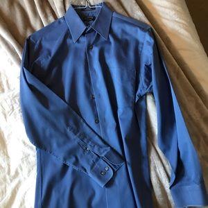 Men's Arrow Fitted Sateen Dress Shirt